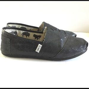 Black sequin TOMS